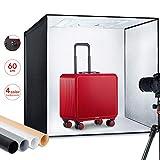 ESDDI Fotostudio Light Box 24'/ 60 cm Einstellbare Helligkeit Tragbare Falten Professionelle Stand...