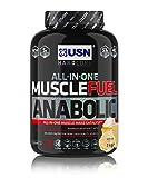 USN Muscle Fuel Anabolic Vanilla Cream Lean Muscle Gain Shake Powder, 2000 g