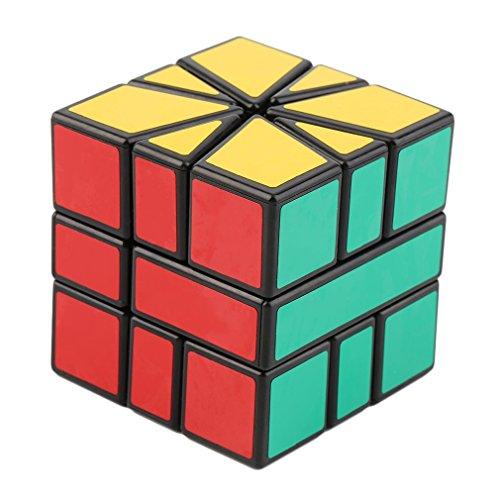 Kitechildhssd Speed Super Square One SQ-1 Cubo mágico de plástico Twist Puzzle Multicolor
