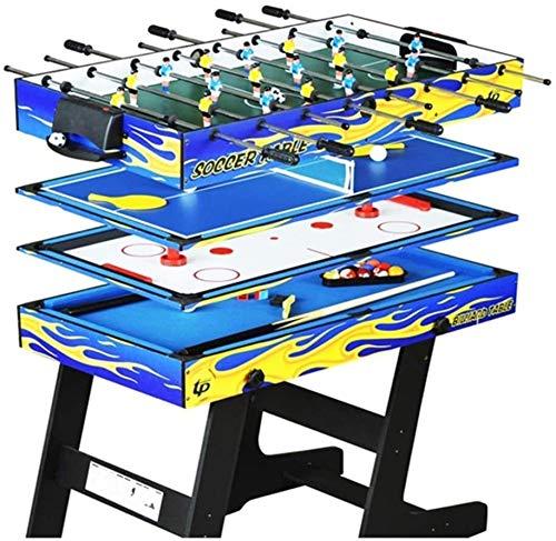 GSAGJsh Juegos for el hogar 4-en-1 Tablas multifunción Plegable Piscina Mesa de Ping Pong Hockey sobre Hielo futbolín Mesa de Juego for niños y Adultos: Amazon.es: Deportes y aire libre