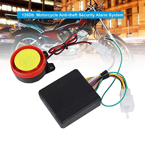 Alarma de Seguridad antirrobo 125Db Alarma antirrobo para Motocicleta Control Remoto Inteligente para Motocicleta con batería de 2V