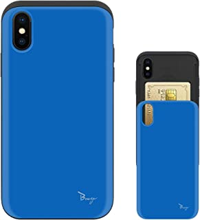 iPhone Xs ケース iPhone X ケース TPU バンパー Bumper 耐衝撃 カード入れ マット加工 ワイヤレス充電対応 スマホケース 擦り傷防止 保護フィルム Breeze 3DP 正規品 [IXJP221BN]