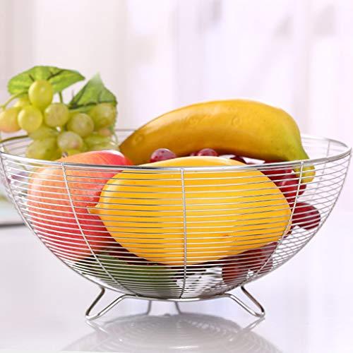 Frutero decorativo de acero inoxidable, cesta, para pan, frutas, aperitivos, caramelos, etc. 2