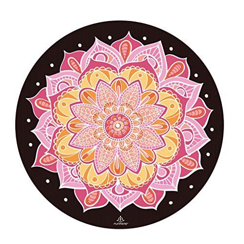 hsj LF- Alfombrilla de yoga redonda de goma natural, antideslizante, profesional, para yoga, meditación, meditación, almohadilla de meditación, antideslizante, color rojo