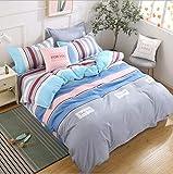 IRCATH Modern Style - Einzelne dreiteilige Pflanze Kaschmir Cartoon Sand Bettbezug vierteilige Bettwäsche urban Light 1,2 m dreiteiliges Set