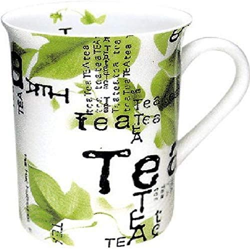 Konitz Tea Collage 10 Ounce Mugs Set of 4 White Green product image