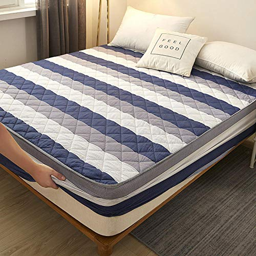 HPPSLT Unterbett Soft-Matratzen-Topper, Matratzenschutz Boxspring-Betten geeignet Wasserdichtes Dickes Bettlaken einteilig - 14_180 cm x 220 cm