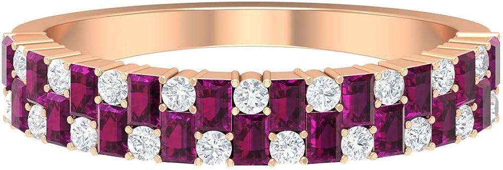 June Birthstone - 2.20X1.5 MM Shaped Ring All stores are sold Baguette Rhodolite HI Popular