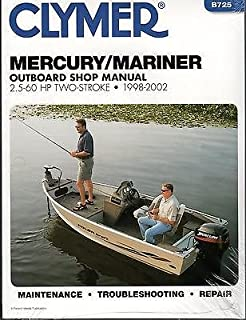 1998-2002 CLYMER MERCURY/MARINER 2.5-60 2 STROKE SERVICE MANUAL B725 FREE SHIP