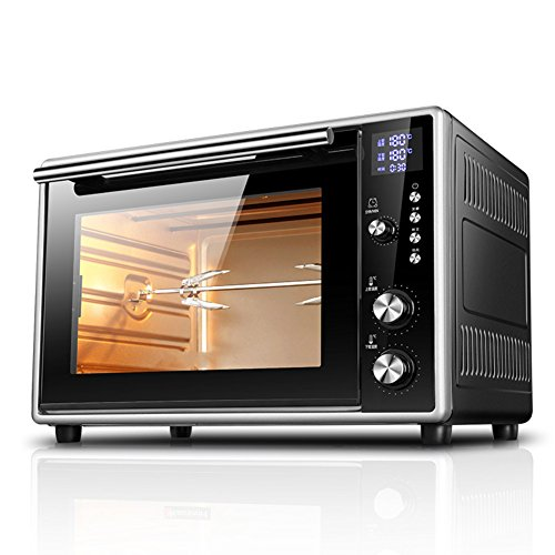 DULPLAY Toaster Oven,Best convection,Mini,40l large capacity,Digital dining,Countertop Oven Black Digital Polished stainless Toast Home Kitchen -black 51x34.5x33cm(20x14x13inch)