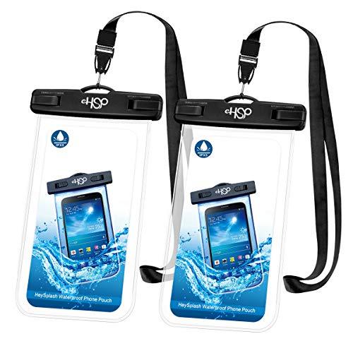HeySplash Universal Wasserdicht Handyhülle, Unterwasser Schwimmen Durchsichtig Handytasche mit Kordel, Kompatibel mit iPhone X/XS/8/7/6s/6 Plus, Samsung S9 S8, Huawei P20 Mate20 Pro, bis zu 6