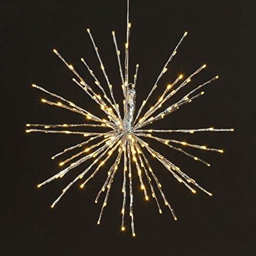 XMASKING TWIGball Argento diam. 60 cm, 200 LED Bianco Caldo, Effetto Flashing, lampade Decorative, Decorazioni Luminose per Eventi, luci di Natale