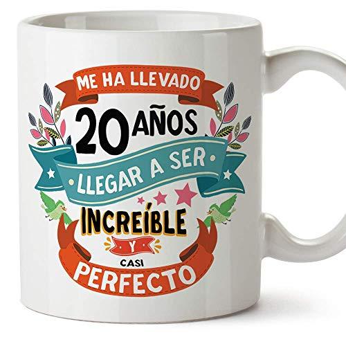 MUGFFINS Taza 20 Cumpleaños -'Me ha llevado 20 años llegar a ser increíble y casi perfecto - Regalos Desayuno Feliz Cumpleaños