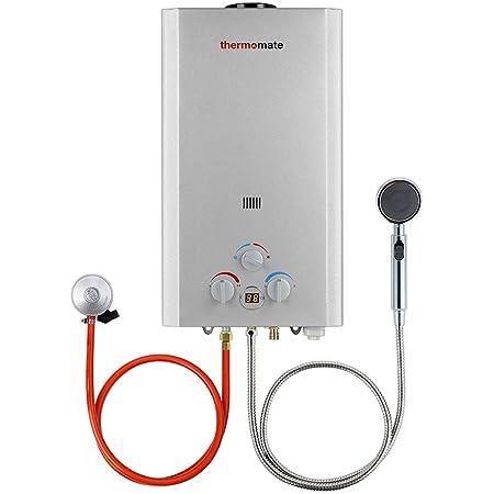 Calentadores de Gas, thermomate BE318S Instantáneo Calentador de Agua a Gas GLP 12 Litros, uso para Caravana, Camping