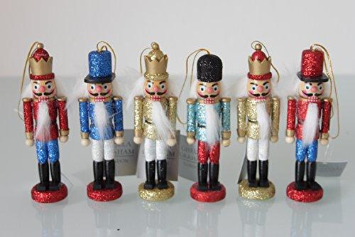 Christmas @ Thumpers Lot de 6 décorations de Sapin de Noël Casse-Noisette 13 cm