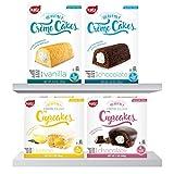 Katz Gluten Free Snacks Heavenly Creme Cake Variety Pack | Chocolate & Vanilla Creme Cake, Chocolate & Lemon Cupcake | Dairy Free, Nut Free, Soy Free, Gluten Free | Kosher (1 Pack of each)