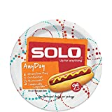 SOLO Cup Company Any Day Paper Plates, 8.5 Inch, 376 Count, Printed