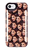 LuMee Duo Phone Case, Kimoji Cry Face, Black | Front & Back LED Lighting, Variable Dimmer | Shock Absorption, Bumper Case, Selfie Phone Case | iPhone 8 / iPhone 7 / iPhone 6s / iPhone 6