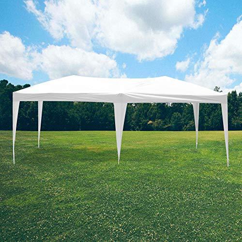Skylantern - Cenador plegable de jardín (3 x 6 m, estructura telescópica de tela 160 g/m2 – Barnum plegable