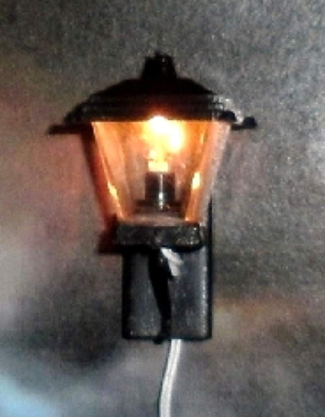 Melody Jane Dollhouse Modern Garden Light Lantern Miniature 12V Electric Lighting Black
