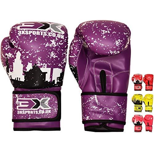 3X Professional Choice Kinder Boxhandschuhe Maya Fell Leder Boxsack Mitts Kickboxen Sparring Krav MAGA Martial Arts Training Jungen Mädchen