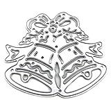 Junecake Campana di Natale Fustelle Metallo,Fustelle Stencil Cutting Dies per DIY Scrapbooking Album di Carta del Mestiere Biglietti per Goffratura Decorazione