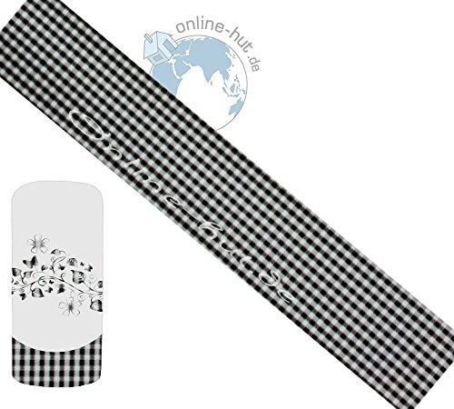 online-hut Transferfolie Schwarz Karo-Hintergrund Transparent