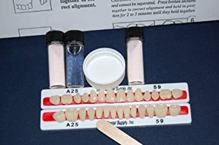 PERK Denture Repair Kit with 28 Denture Teeth