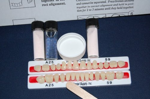 PERK Denture Repair Kit with 28 Denture Teeth