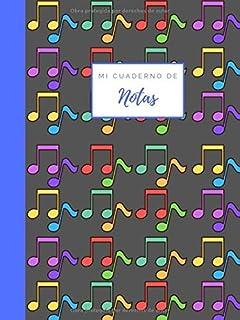 mi cuaderno de notas: Libro de música Pentagrama para músicos y cantantes I Apto para la escritura de partituras (A4) con ...