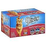 9Lives Surf 'N Turf Favorites Variety Pack, 5.5Oz Cans (Pack Of 24)