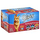 9Lives Surf 'N Turf Favorites Variety Pack, 5.5Oz Cans (Pack Of 24)