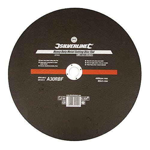 Silverline 277519 - Disco de corte plano para metal (355 x 3,2 x 25,4 mm)