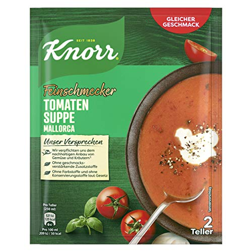 Knorr Feinschmecker Tomatencreme Suppe Mallorca, 2 Teller