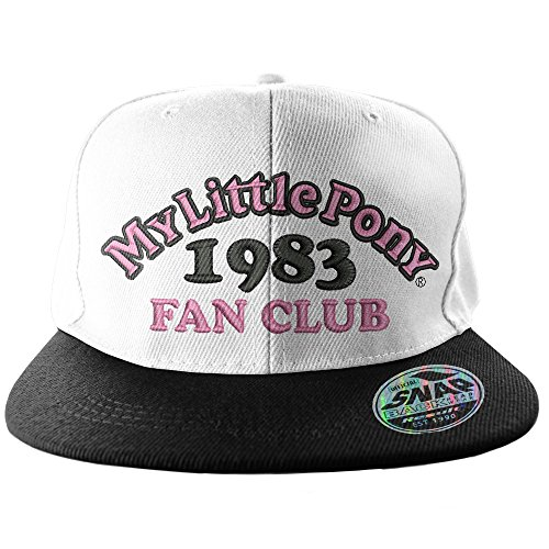 Officially Licensed Merchandise My Little Pony Fan Club 1983 Adjustable Size Snapback Cap (Black/White)