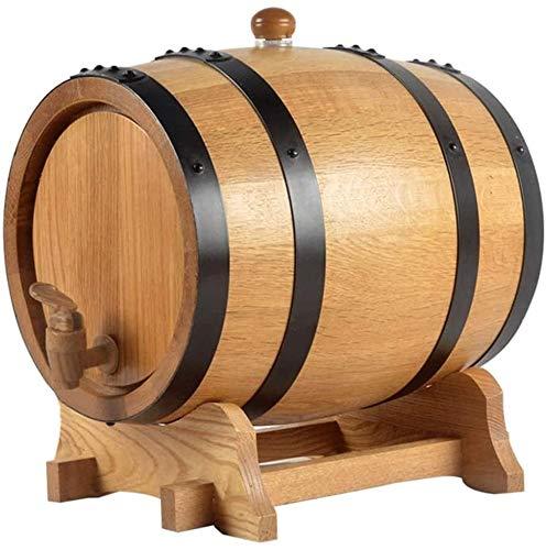 Eiche Weinfass mit Ständer 20/30 l Bierbehälter zur Aufbewahrung von Wein Bier Hochtemperatur Holzkohlegrill Stahlring versiegeltes Fass 30 l