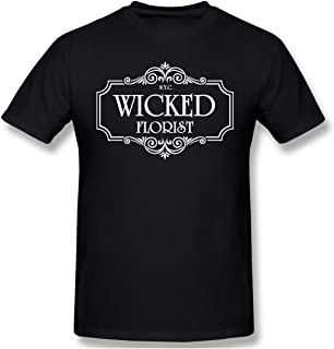 Men Wicked Florist NYC Cool T-Shirt Black