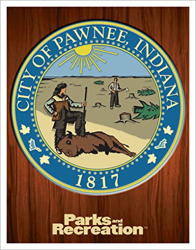 Culturenik Parks and Recreation Pawnee City Seal Workplace Comedy TV Television Show Poster Print, Unframed 11x14