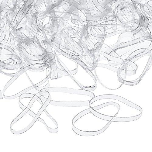 Scopri offerta per 3 mm Elastici per Capelli Trasparente Fermacoda, 500 Pezzi
