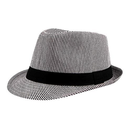 Aliturtle Unisex Classic Trilby Short Brim Panama Roll up Hat Twill Fedora Beach Sun Hat