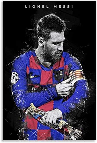 Puzzle 120 Piezas Adultos Niños Rompecabezas Fútbol Lionel Messi 9.8x7.8inch(25x20cm) Sin Marco
