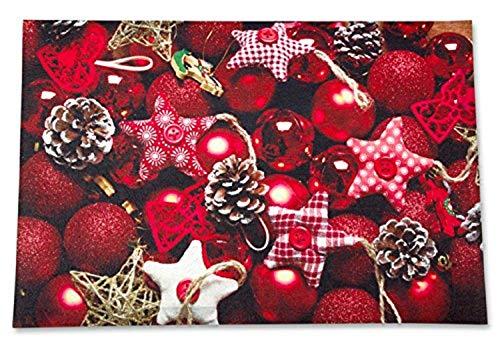 Bavaria Home Style Collection Schmutzfangmatte/Fußmatte/Fussmatte/Fußabstreifer Weihnachten- Tannenbaumschmuck - Weihnachtsschmuck