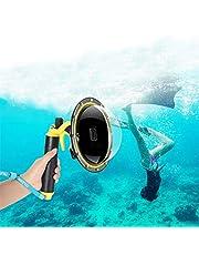 Voor GoPro Dome Port, Duiken Transparante Dome GoPro Hero Zwarte Lens Waterdichte Behuizing Met Floaty Handgreep Onderwater Case voor GoPro Accessoires