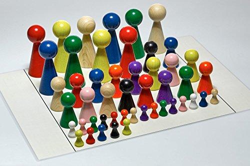 G&S Figurenset Plus für Systembrett Familienbrett - Set mit 48 Figuren und Aufstellungsplan