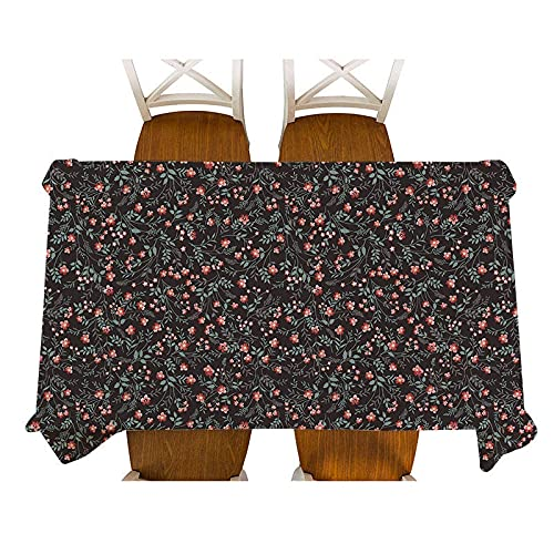 XXDD Mantel de Lino Impermeable con diseño Floral pequeño de Estilo Pastoral, Mantel Decorativo para el hogar, Cocina, Escritorio de Picnic, A1 150x210cm