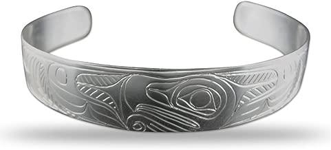 Sterling Silver Eagle Pacific Northwest Coast Native 1/2 Inch Wide Bracelet