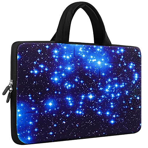 iColor Starry Ultra-Portable Neoprene Carrying Protective Case Sleeve Briefcase Pouch Bag Tote with Handle Fits 11.6 12 12.1 12.2 Inch Netbook / Laptop (IHB12-003)