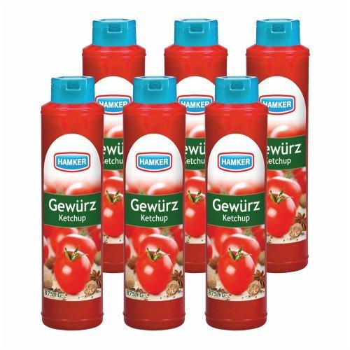 6x Hamker 'Gewürz Ketchup', 875 ml