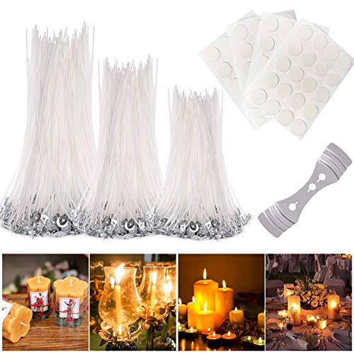 150pcs Candle Making Wicks,DIY Candle Making Kit with Candle Wick Stickers and Candle Wick Centering Device for Candle DIY, Candle Making