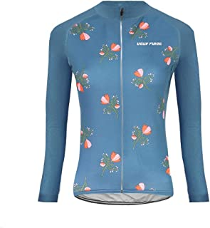 Outdoor Sports Women's Slim Fit Cycling Jersey Long Sleeves Bike Bicycle MTB Shirts Spring Breathable Style